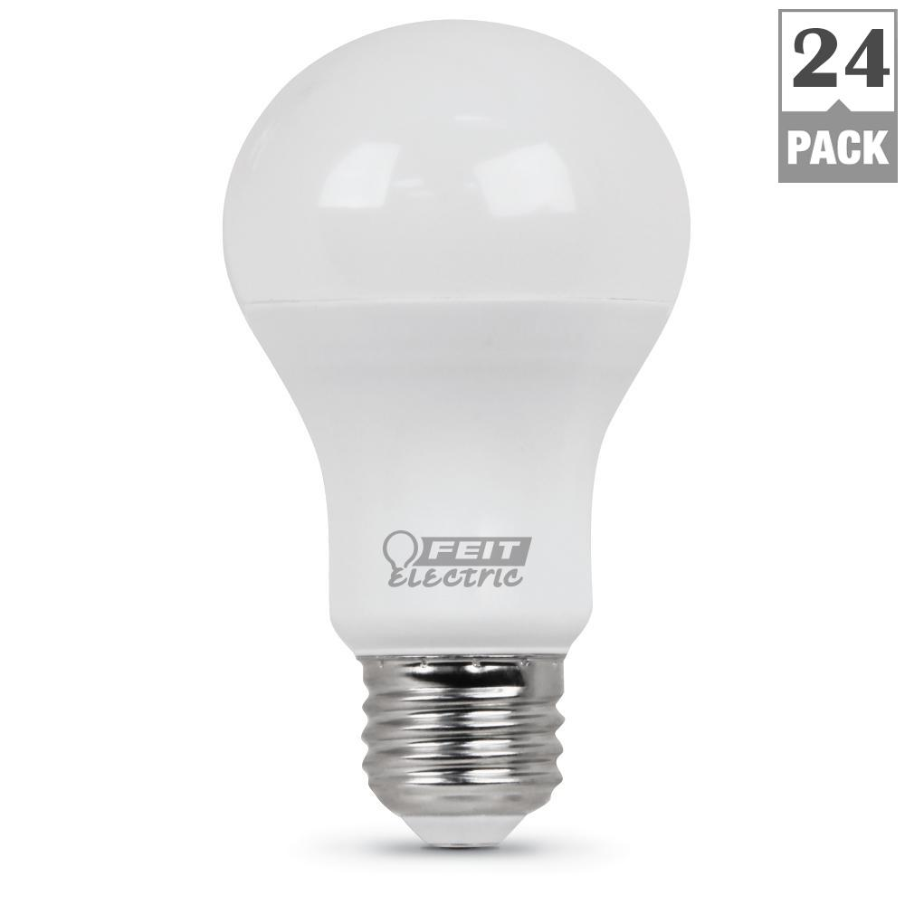 40-Watt Equivalent Soft White A19 LED Medium Base Light Bulb (Case