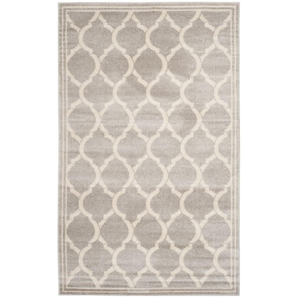 Safavieh Amherst Light Gray Ivory 5 Ft X 8 Indoor Outdoor