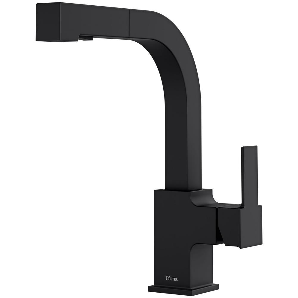 Arkitek Single-Handle Pull-Out Sprayer Kitchen Faucet in Matte Black