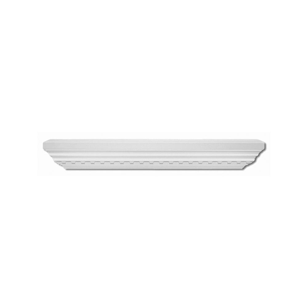 Focal Point 36 in. x 7-1/2 in. Primed Polyurethane Dentil Decorative Shelf
