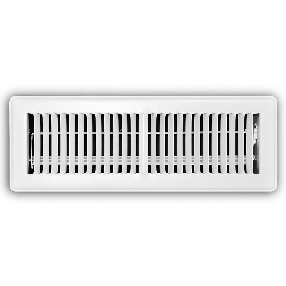 Everbilt 4 In X 14 In White Floor Diffuser E150mw 04x14