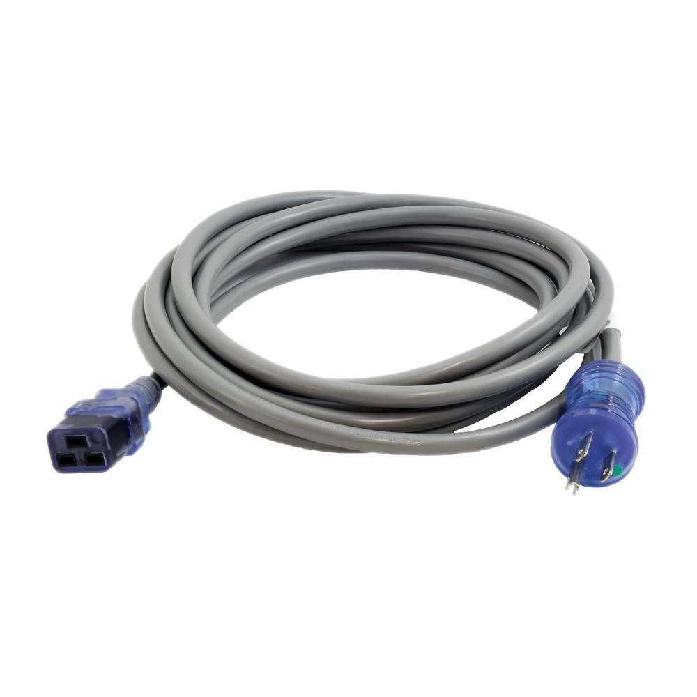 AC Connectors 15 ft. 14/3 SJTW 15 Amp Hospital/Medical Grade PowerCord
