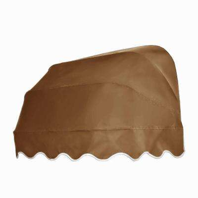 5 ft. Georgia Retractable Elongated Dome Awning (31 in. H x 24 in. D) in Tan