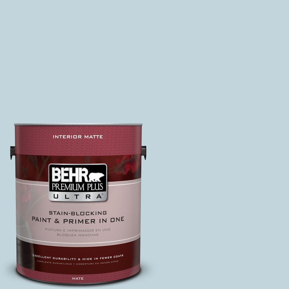 BEHR Premium Plus Ultra 1 gal. #S470-1 Cloudy Sky Matte Interior Paint