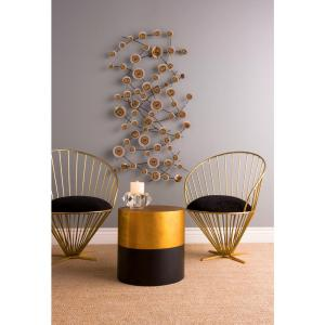 Titan Lighting Draper Antique Gold and Black End Table by Titan Lighting
