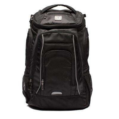 Edrik Black Padded Laptop Backpack and Fits Up to 17 in. Laptops