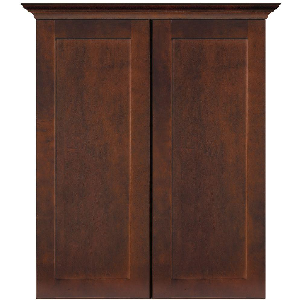 MasterBath Elite Shaker 24 in. W Bath Storage Cabinet in Java