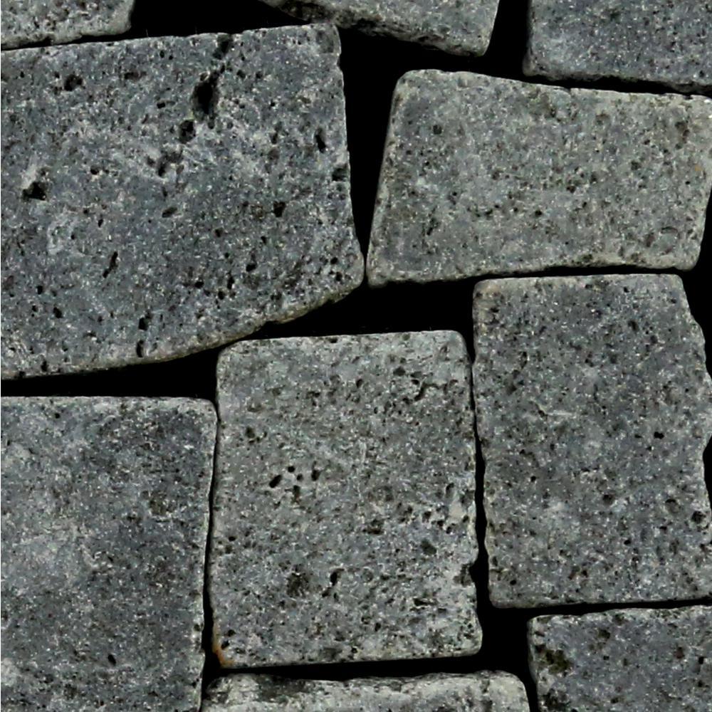 Block Mosaic Tile Sample Color Black 4 in. x 6 in.