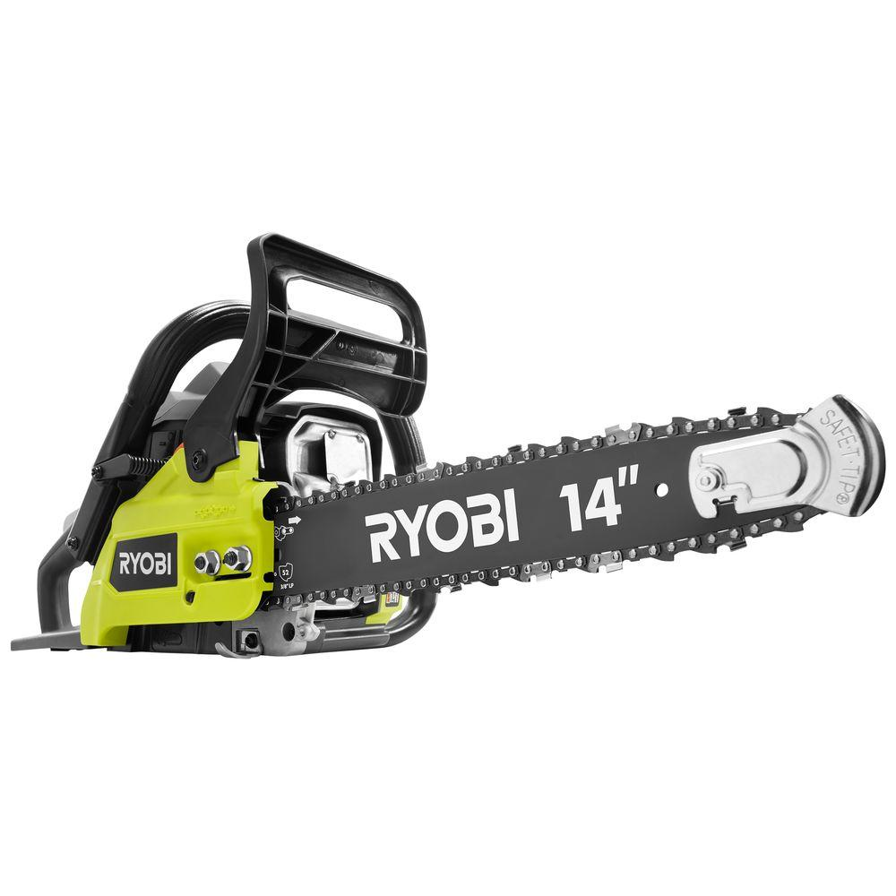 Ryobi 14 in 37cc 2 cycle gas chainsaw ry3714 the home depot 37cc 2 cycle gas chainsaw greentooth