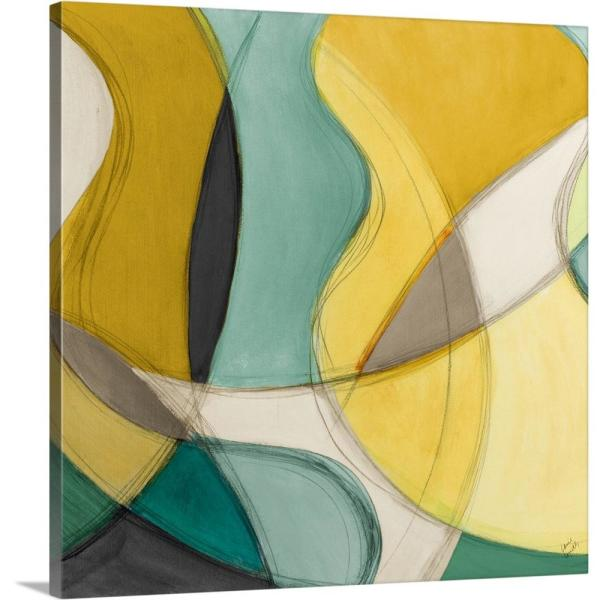 GreatBigCanvas ''Curving Color Square I'' by Lanie Loreth Canvas Wall Art