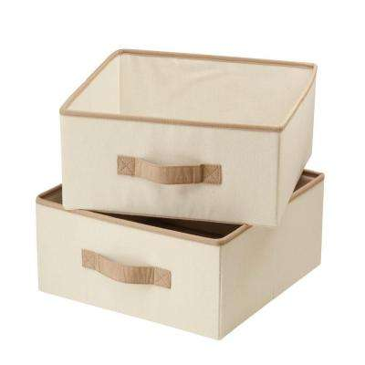 Natural Canvas Drawers For Hanging Organizer (2 Pack)