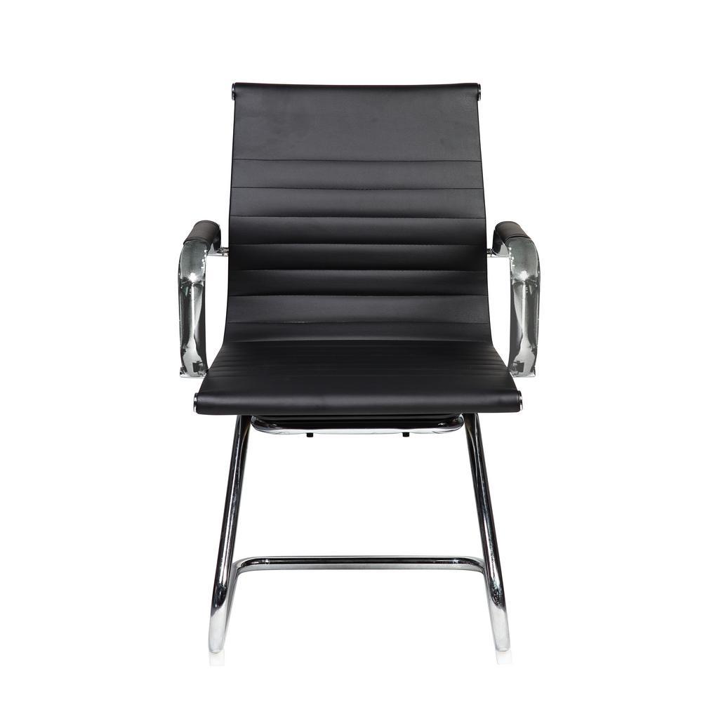 Techni Sport Black Modern Visitor Office Chair-RTA-4602V-BK - The ...