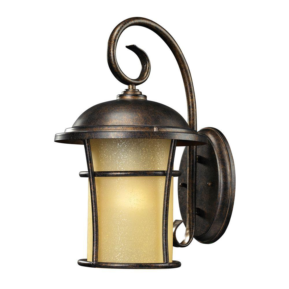 Titan Lighting Bolla Vista 1-Light Outdoor Regal Bronze Sconce