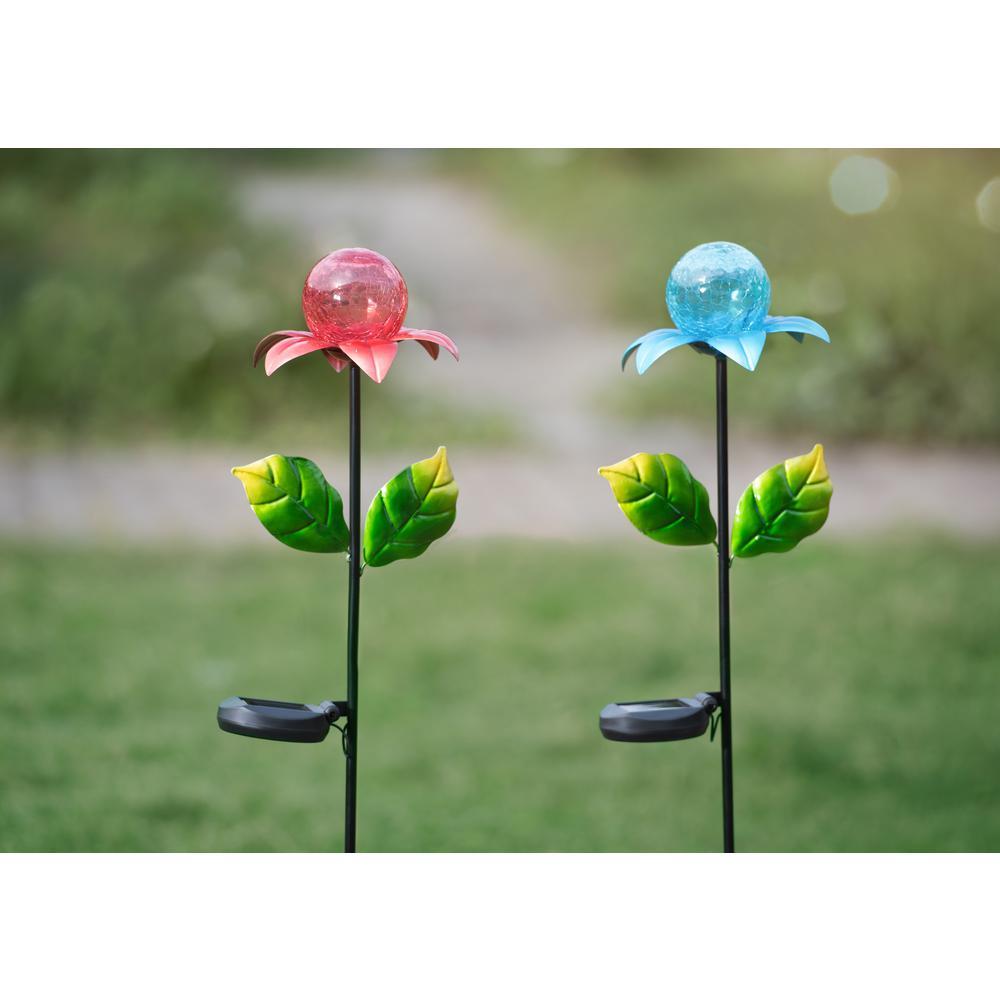Flower LED Solar Garden Stake