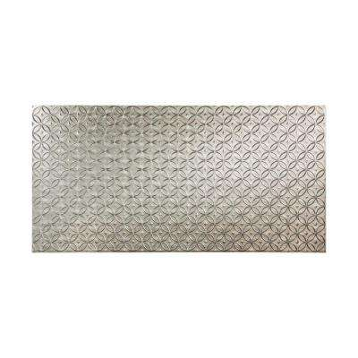 Rings 96 in. x 48 in. Decorative Wall Panel in Crosshatch Silver