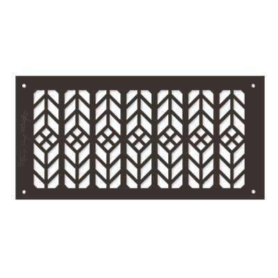 Frank Lloyd Wright Collection Floral Grille 6 in. x 14 in. Aluminum Antique Bronze Finish