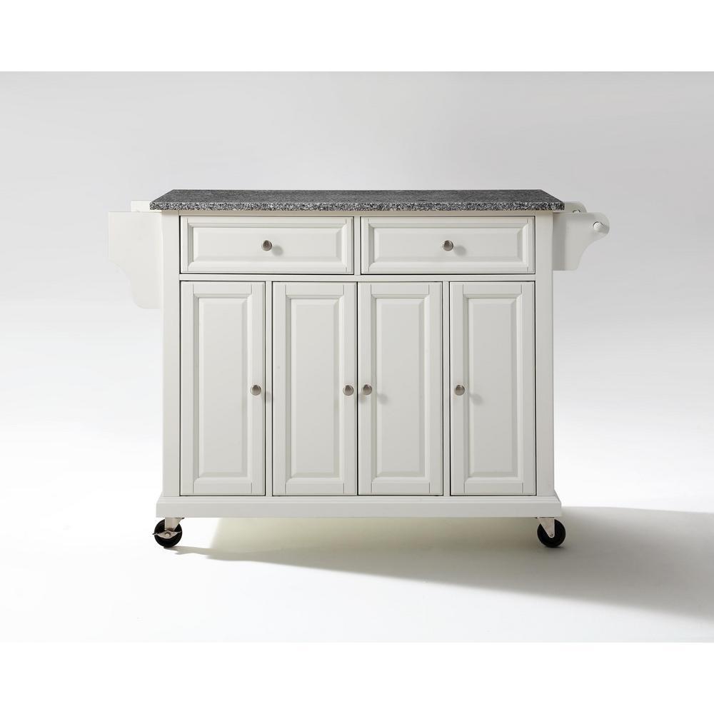 Internet #204460603. Crosley White Kitchen Cart ...
