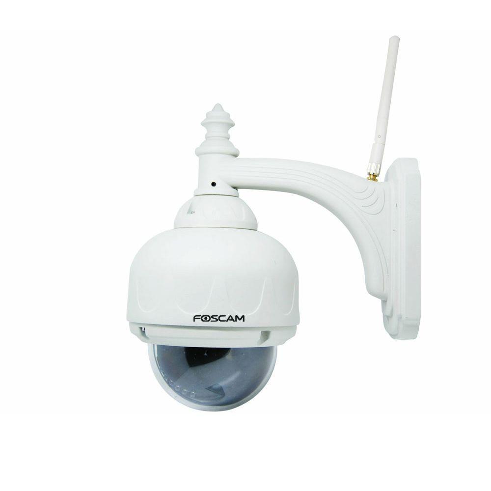 Foscam Wireless 480p Outdoor Dome Shaped Pan/Tilt IP Camera - White