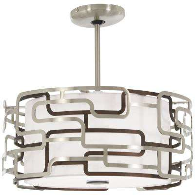 Alecia's Tiers 100-Watt Equivalence Brushed Nickel Integrated LED Pendant