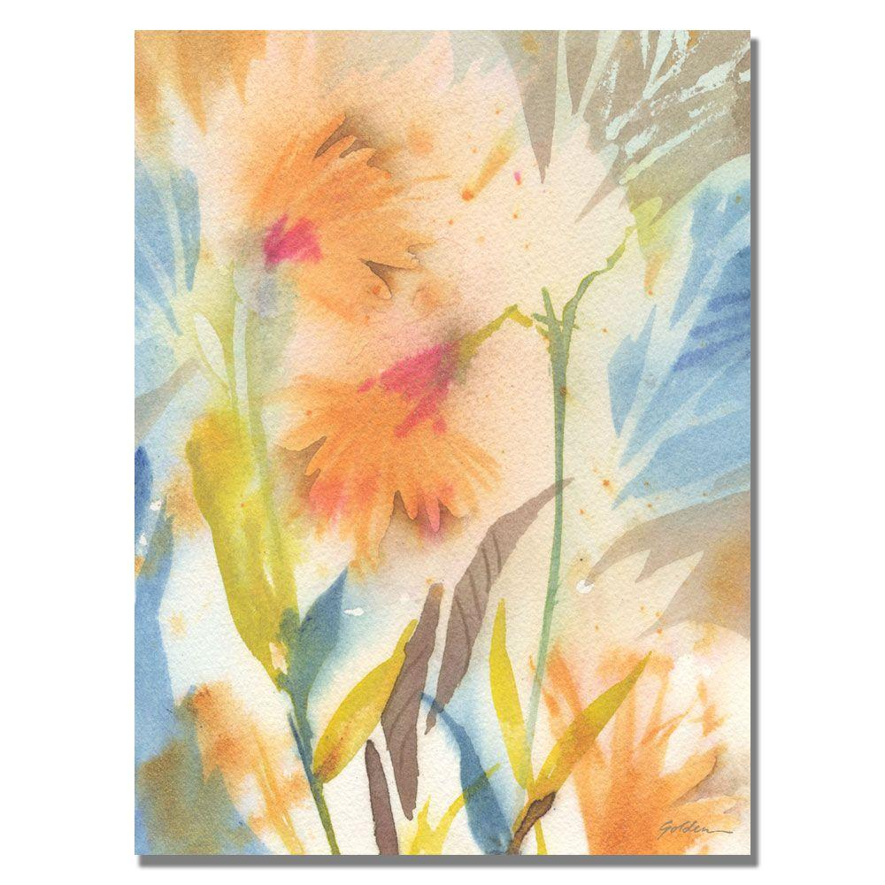 35 in. x 47 in. Tropical Orange Flowers Canvas Art