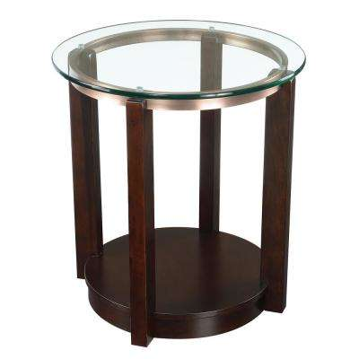 Benton Espresso Traditional End Table
