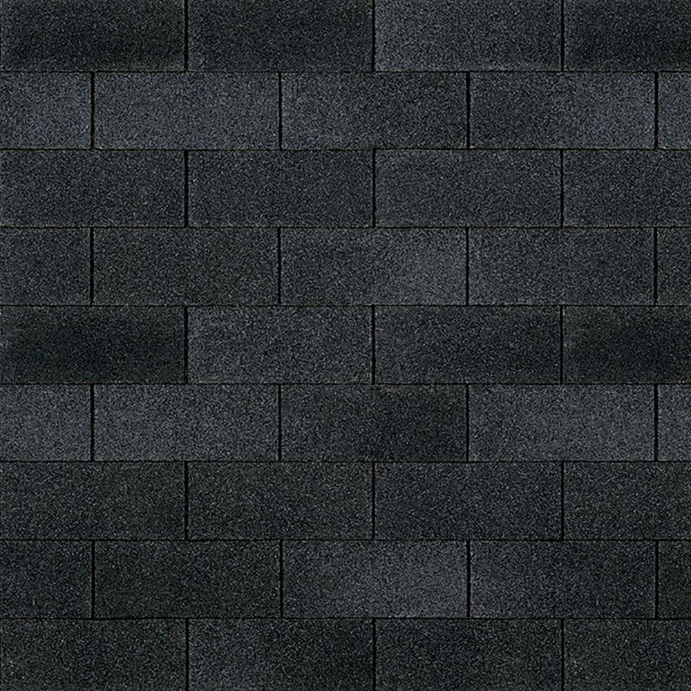 Owens Corning Supreme Onyx Black 3-Tab Metric Asphalt Roofing Shingles  (33 3 sq  ft  per Bundle)