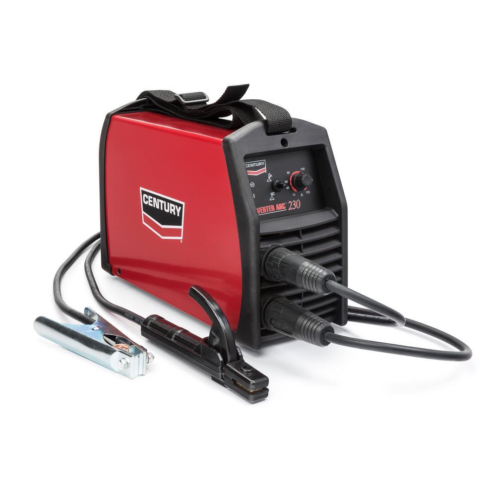 155 Amp Inverter Arc 230 Stick Welder, Single Phase, 220V