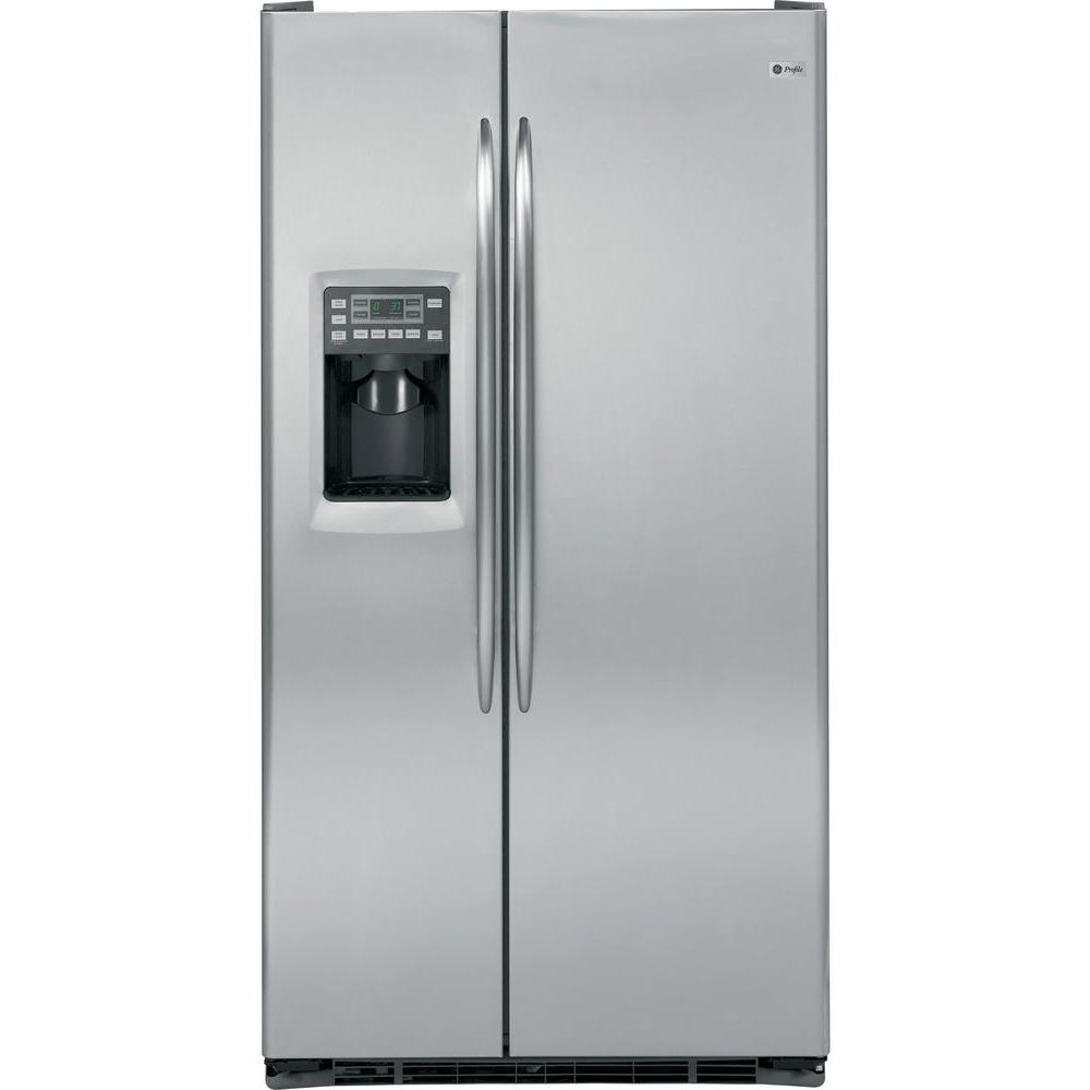 GE Profile 23.3 cu. ft. Side by Side Refrigerator in Stainless Steel, Counter Depth