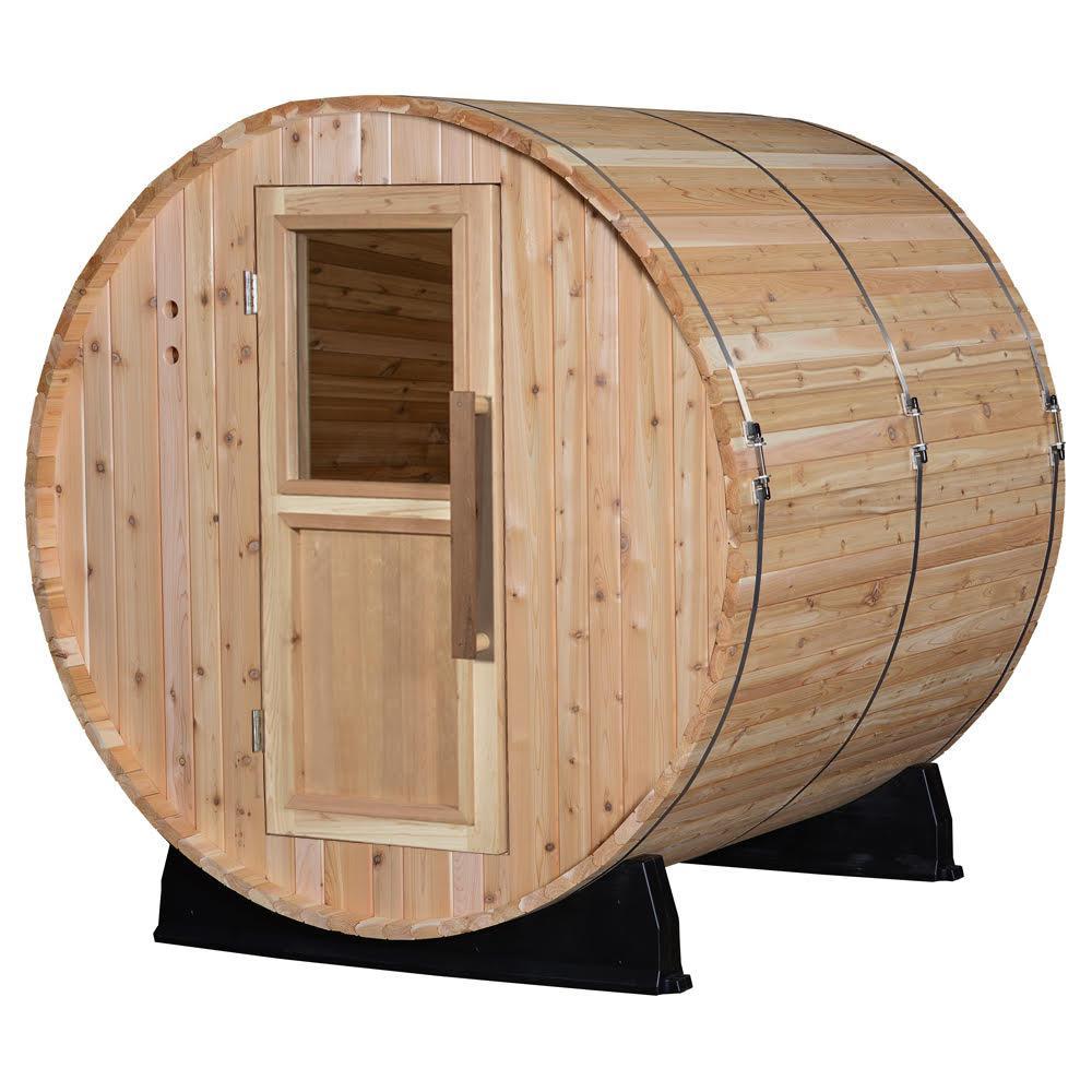 Pinnacle Cedar 4-Person Electric Barrel Sauna