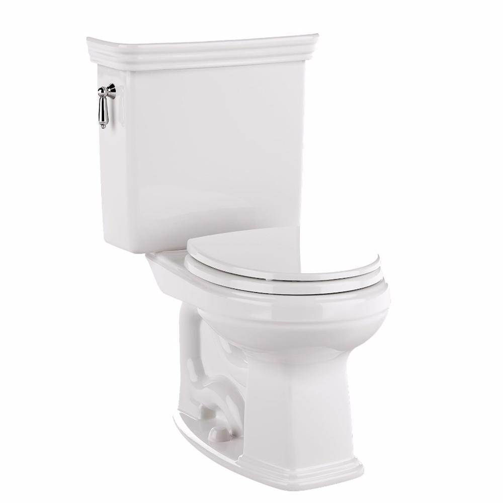 TOTO Promenade 2-Piece 1.28 GPF Single Flush Elongated Toilet with ...