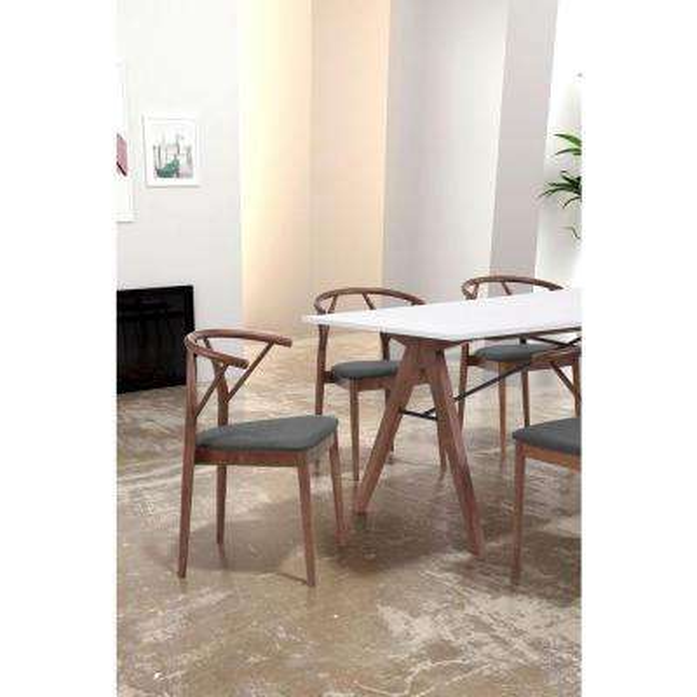 Communion Espresso Wood Dining Chair (Set of 2)