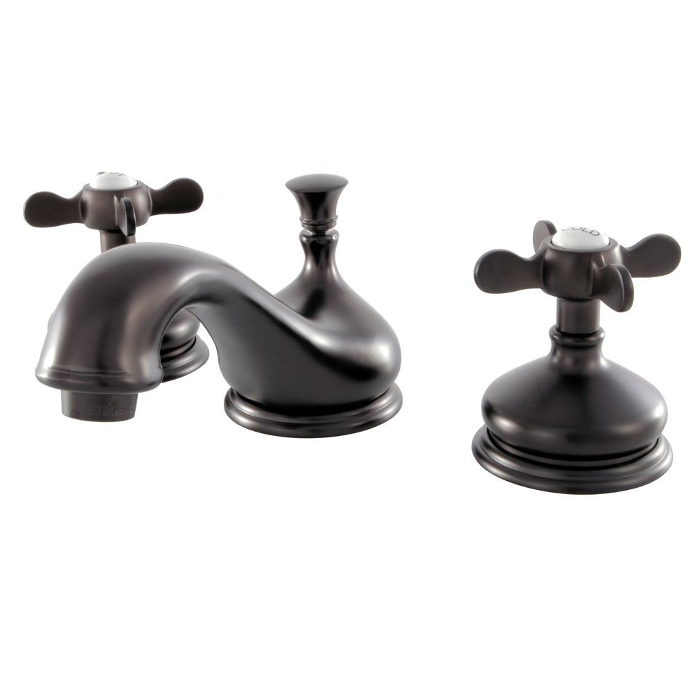 Classic Cross 8 in. Widespread 2-Handle Bathroom Faucet in Oil Rubbed