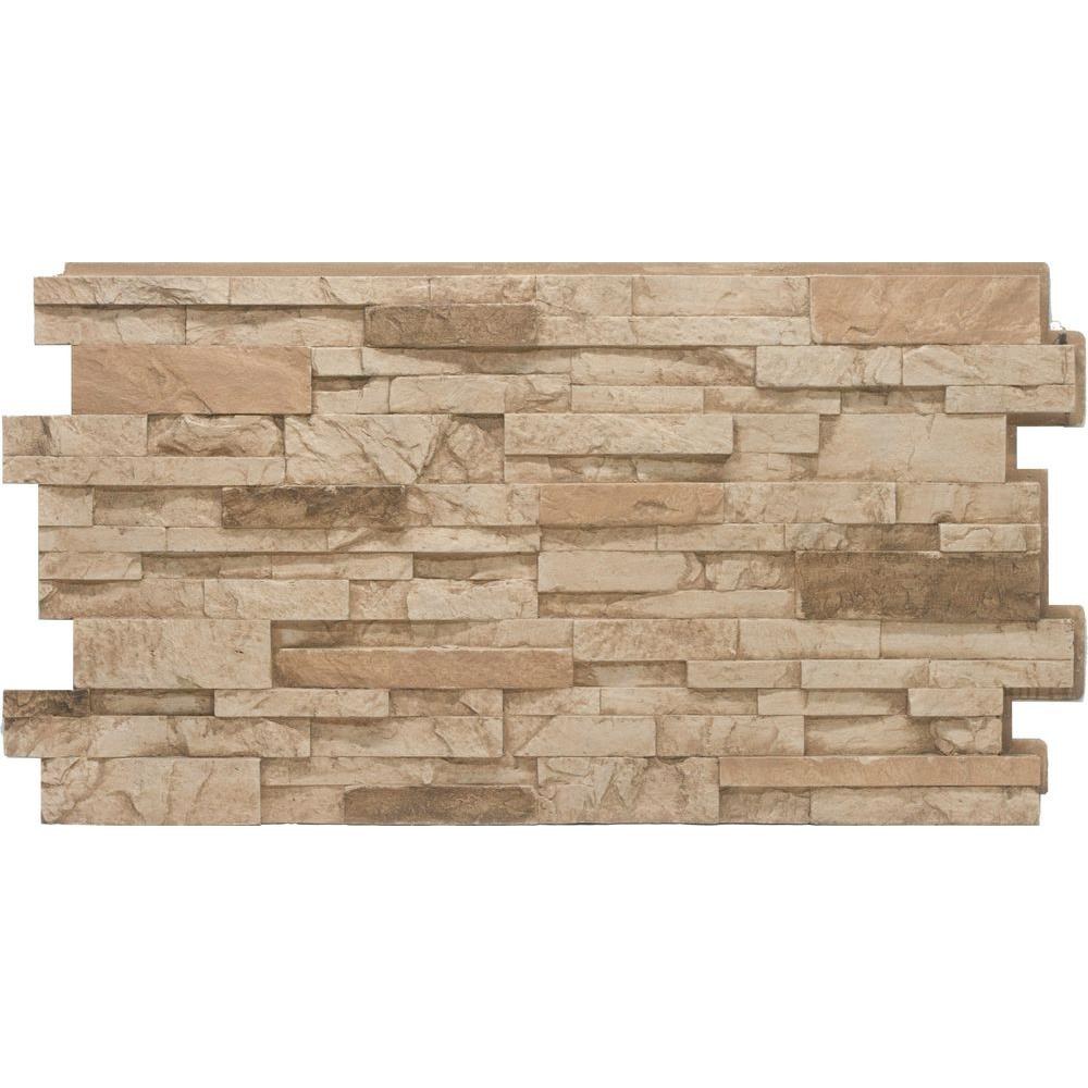 Urestone Stacked Stone 35 Desert Tan 24 In X 48 In