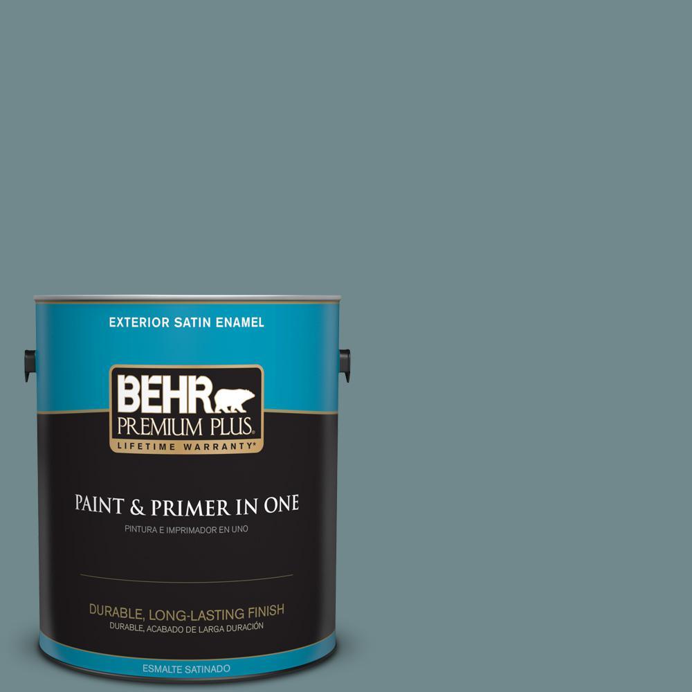1 gal. #PPU13-06 Polaris Blue Satin Enamel Exterior Paint