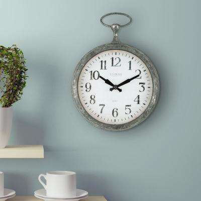 9 in. Round Pocket Watch Analog Wall Clock