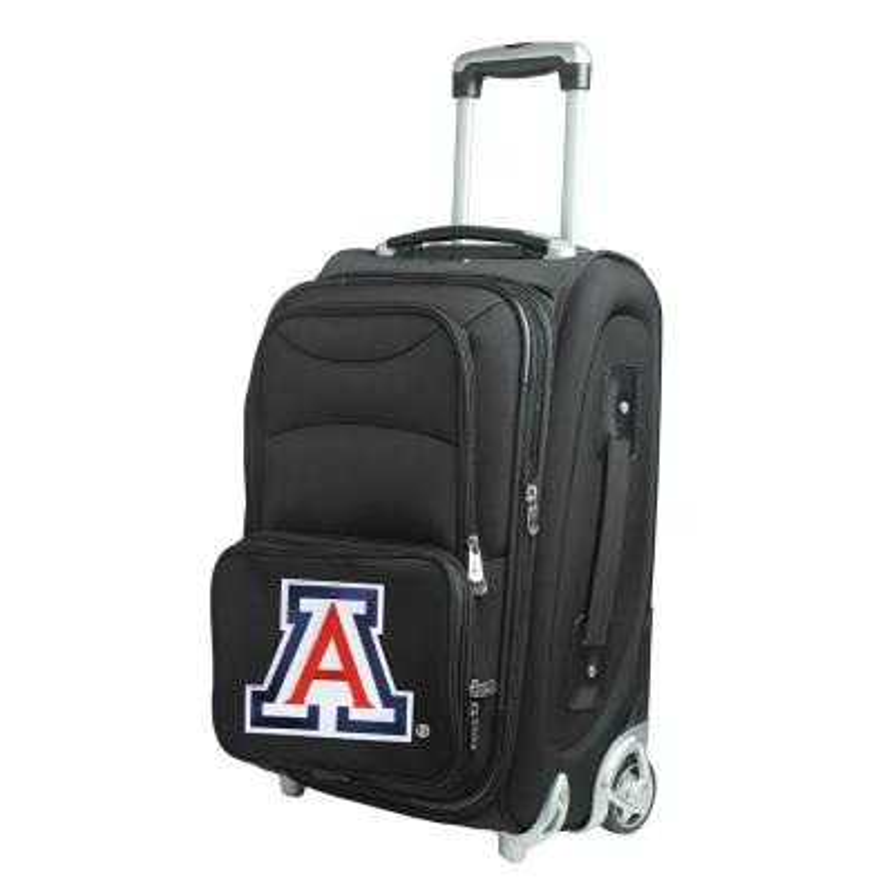 Denco NCAA Arizona 21 in. Black Carry-On Rolling Softside Suitcase