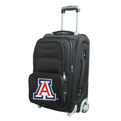 NCAA Arizona 21 in. Black Carry-On Rolling Softside Suitcase