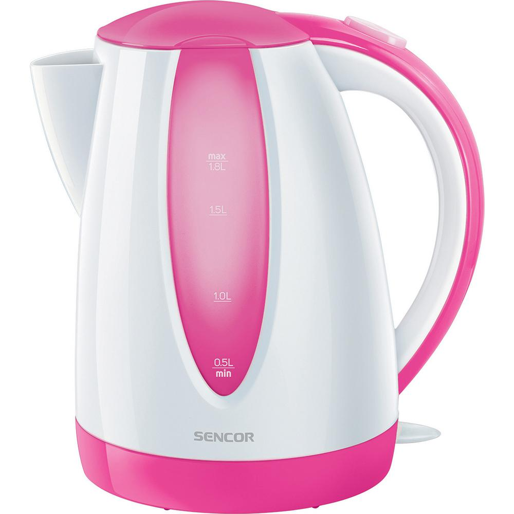 Sencor 7.6-Cup Cordless Pink Electric Kettle with Automatic Shut Off Cordless electric kettles by Sencor heats water twice as fast as stove top, offering better speed, convenience, energy efficiency and safety This electric kettle comes with a 360° swivel and bright finish. Color-coordinate with other kitchen electrics by Sencor to create a beautiful kitchen with European design touch. Color: Pink.