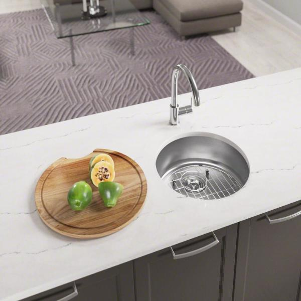 All-in-One Dualmount Stainless Steel 18 in. Single Bowl Bar Sink