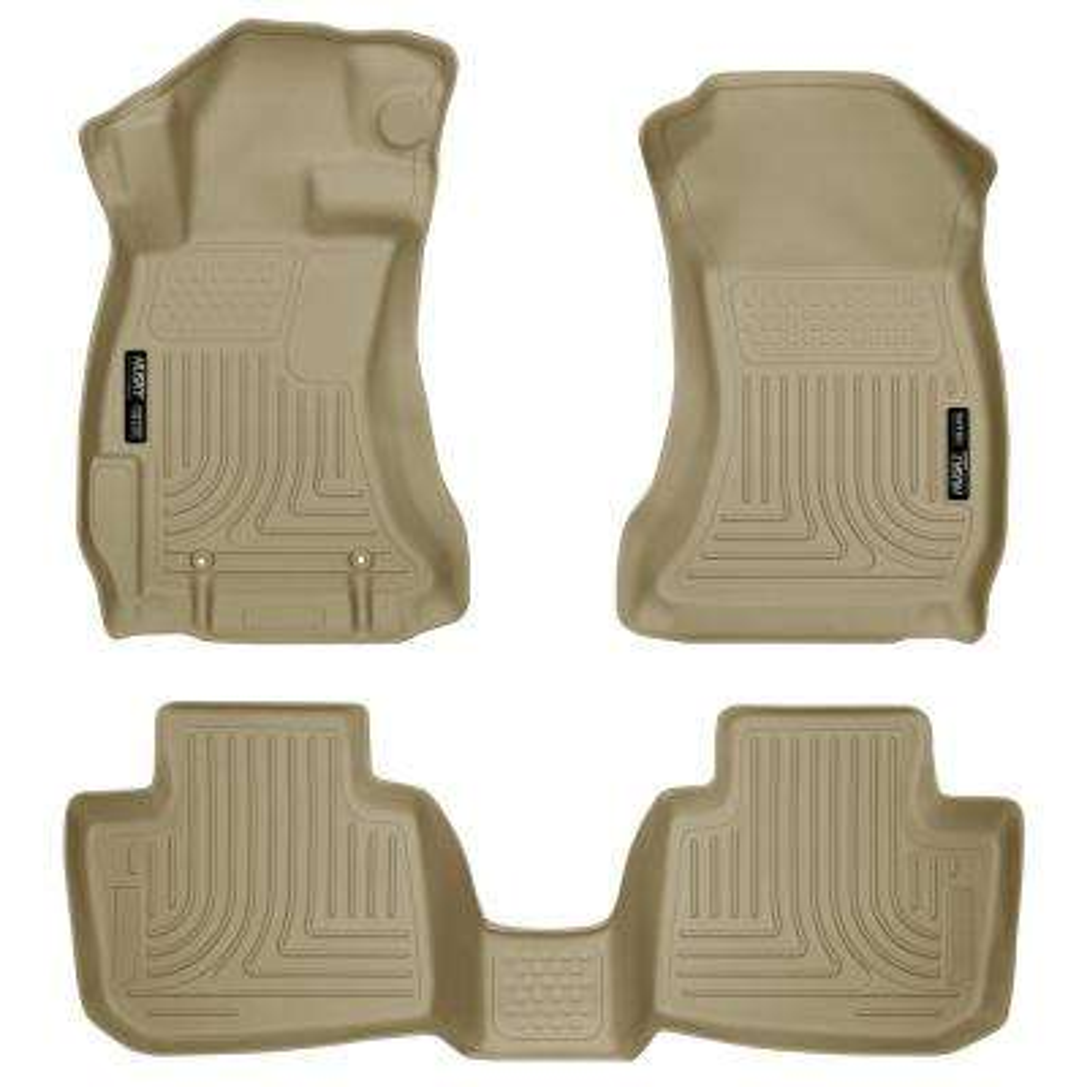 Front & 2nd Seat Floor Liners Fits 16-17 Crosstrek, 12-18 Impreza