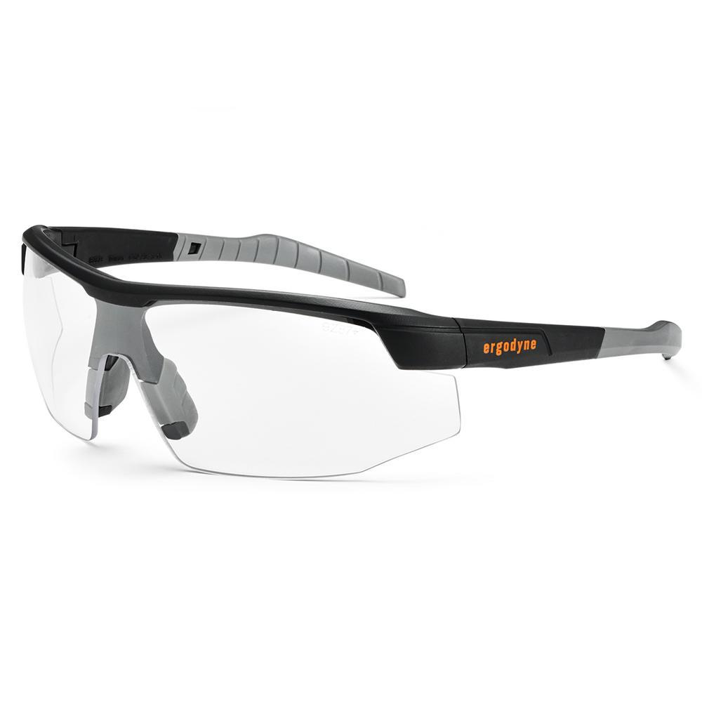 Skullerz Skoll Matte Black Anti-Fog Safety Glasses, Clear Lens - ANSI Certified