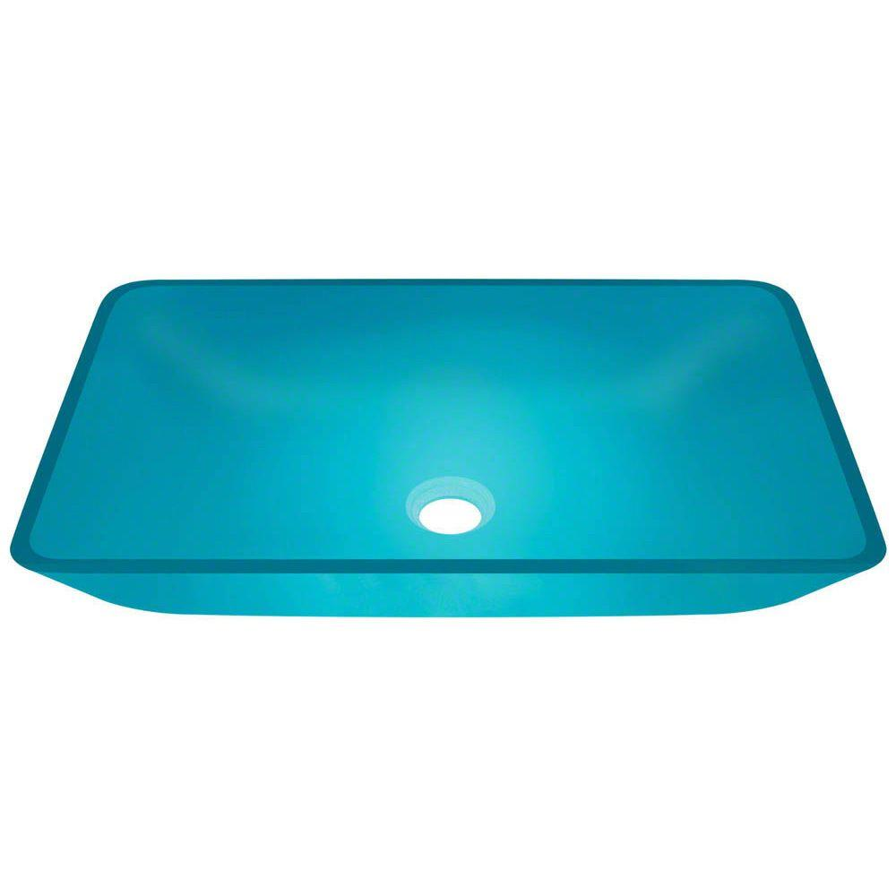 MR Direct Glass Vessel Sink in Turquoise-640-Turquoise - The Home Depot
