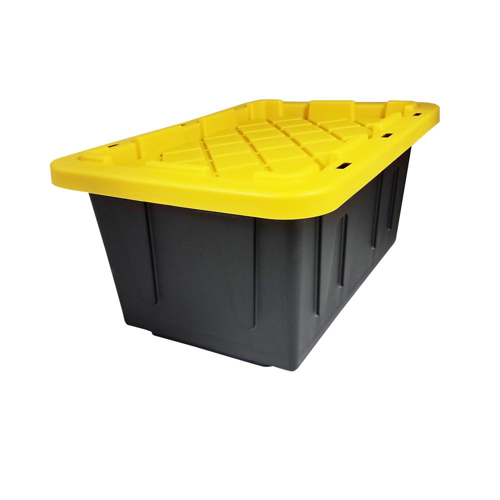 Incroyable Durabilt 15 Gal. Tough Tote In Black And Yellow (2 Pack)