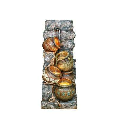 43 in. Grey Potter Pitcher Indoor/Outdoor Fountain