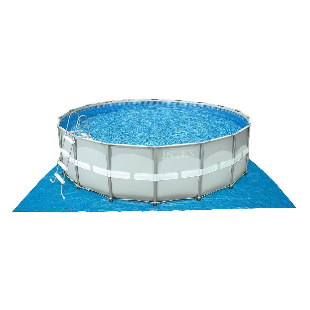 Intex 16 Ft X 48 In Ultra Frame Pool Set With 1 500 Gal Filter Pump 28321eh The Home Depot