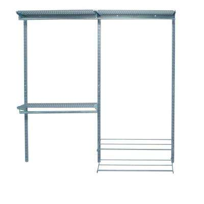 93 in. of Hanging Space, 450 sq. in. Per Shelf of Storage Space Garment Wall Organizer