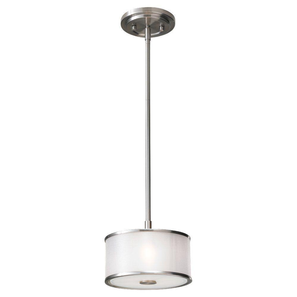 Casual Luxury 1-Light Brushed Steel Mini Pendant