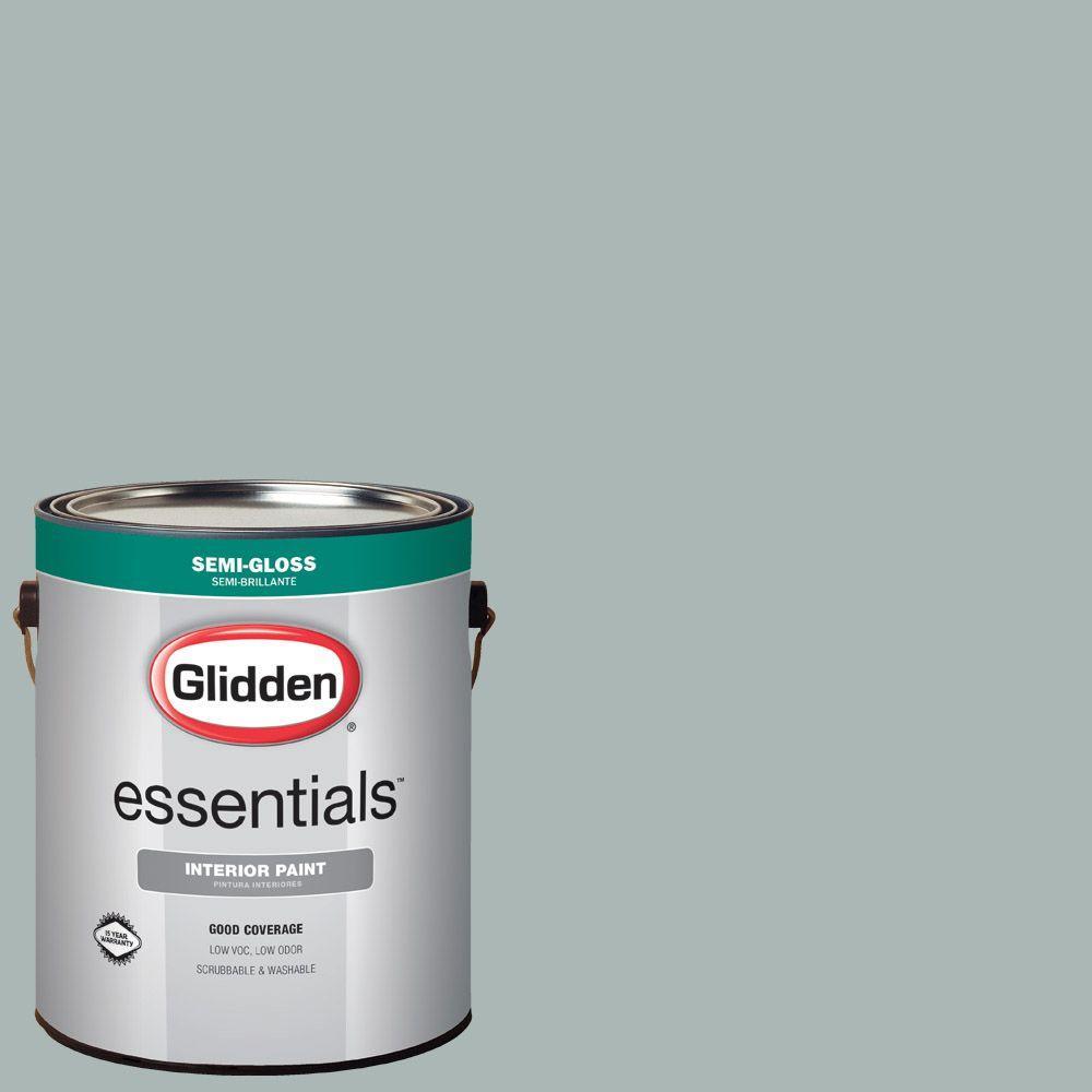 Glidden Essentials 1 Gal Hdgcn20u Summer Shower Green Semi Gloss Interior Paint Hdgcn20ue 01sn The Home Depot
