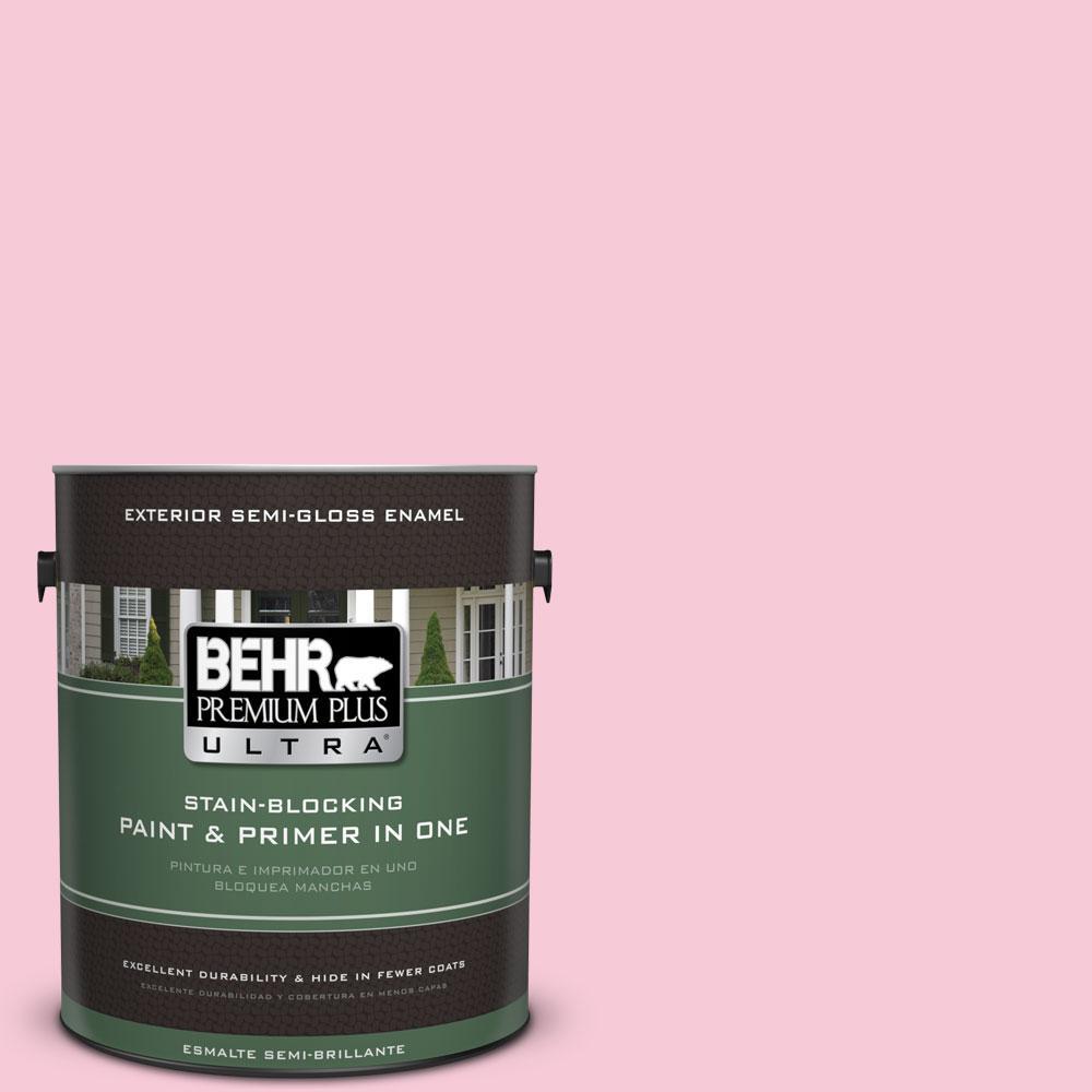 BEHR Premium Plus Ultra 1-gal. #110A-3 Palace Rose Semi-Gloss Enamel Exterior Paint