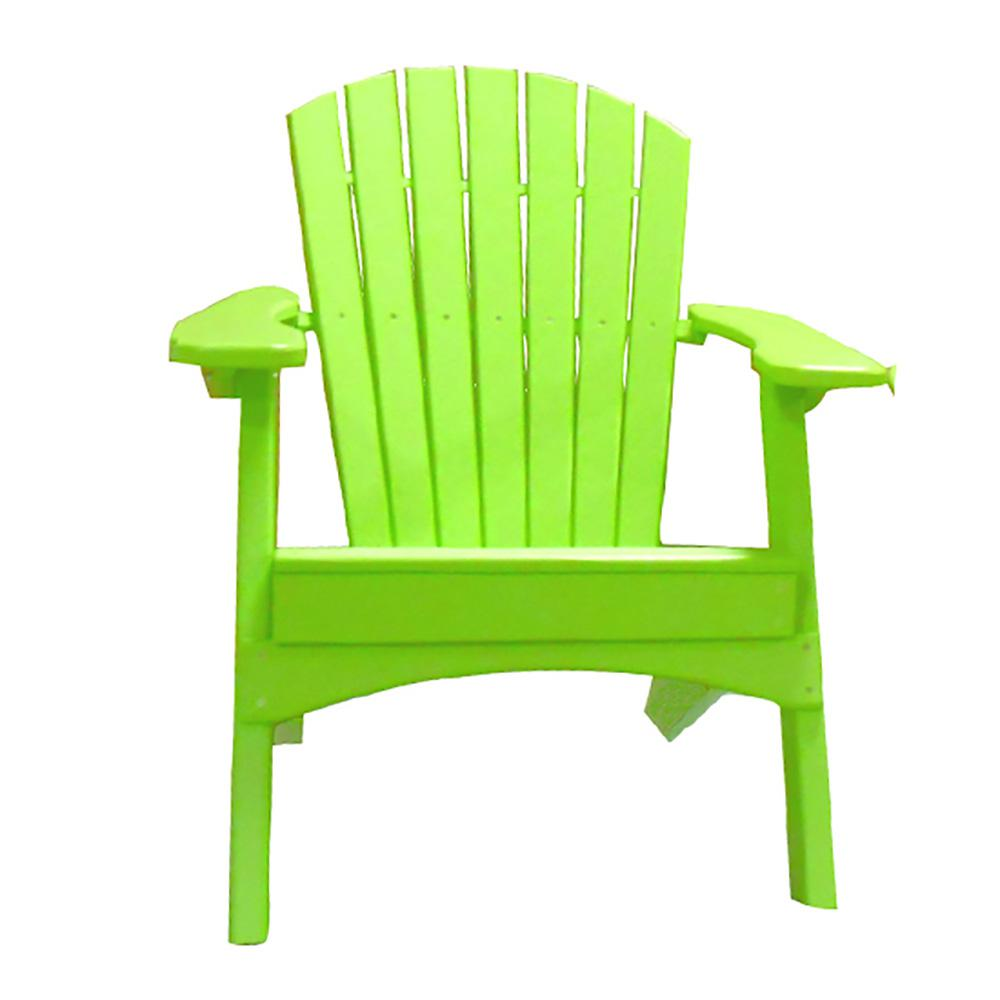 Perfect Choice Lime Green Plastic Adirondack Chair-BY.OFC